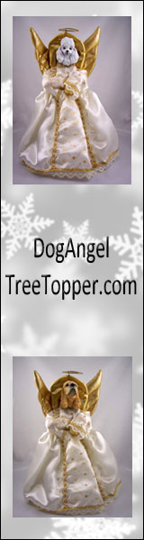 dog angel tree topper